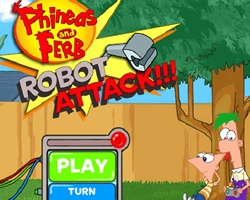 Phineas and Ferb Robot Attack