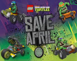 Lego Ninja Turtles Save April